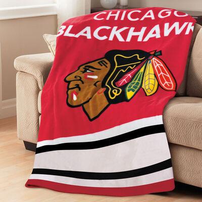 Sunbeam® NHL® Fleece Heated Throw, Chicago Blackhawks®