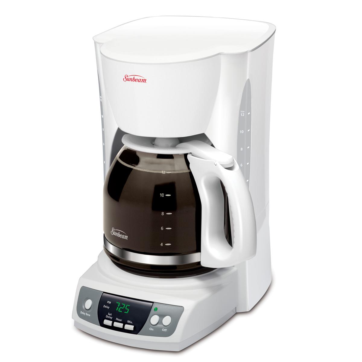 Sunbeam 12-Cup Programmable Coffeemaker, White 6964-33 Sunbeam Canada