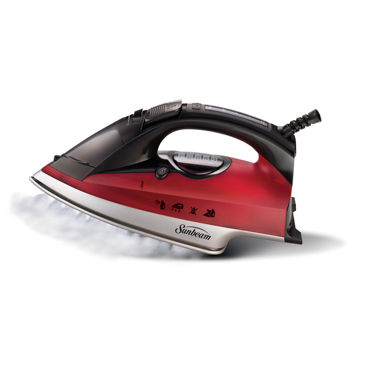 Sunbeam® Steam Master® Digital Iron, Red & Black