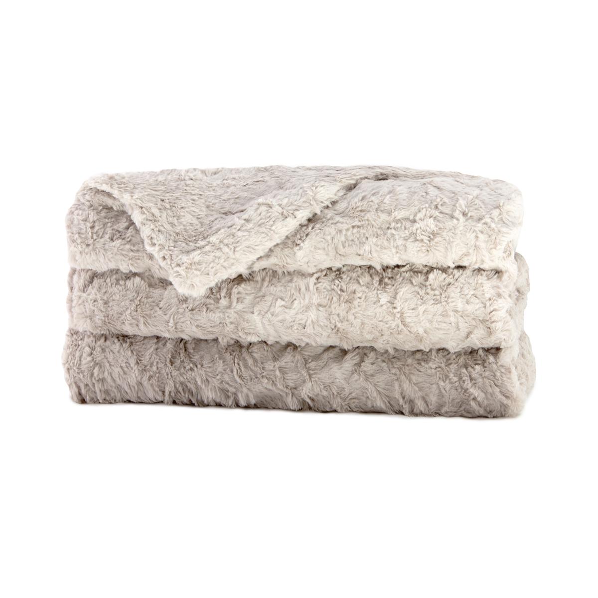 Sunbeam® Royal Mink Plush Heated Throw – Light Grey TST8VS RP04  #423125