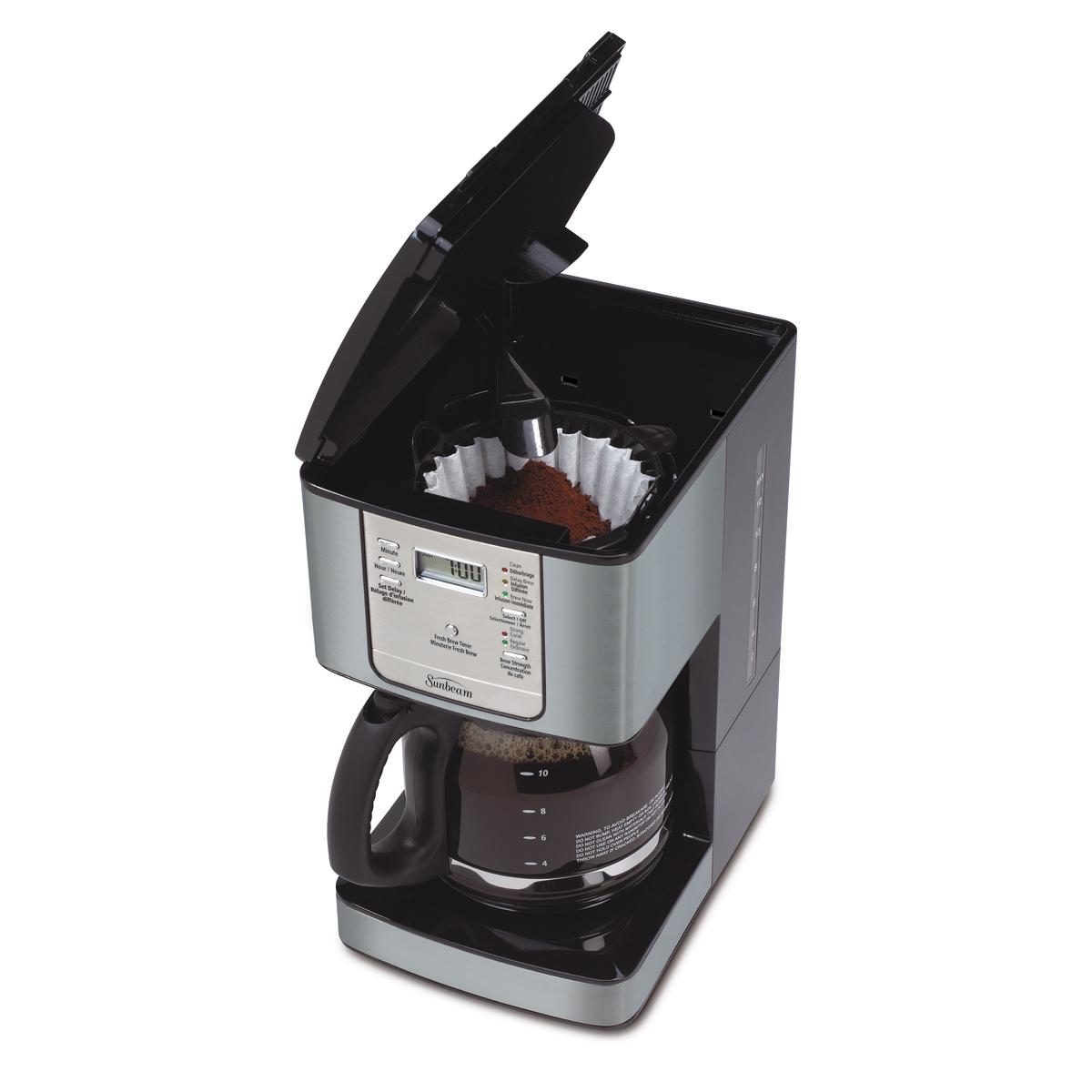 Sunbeam Programmable Coffee Maker Manual : Sunbeam 12-Cup Programmable Coffeemaker, Smoke Pearl BVSBJWX27SP-033 Sunbeam Canada