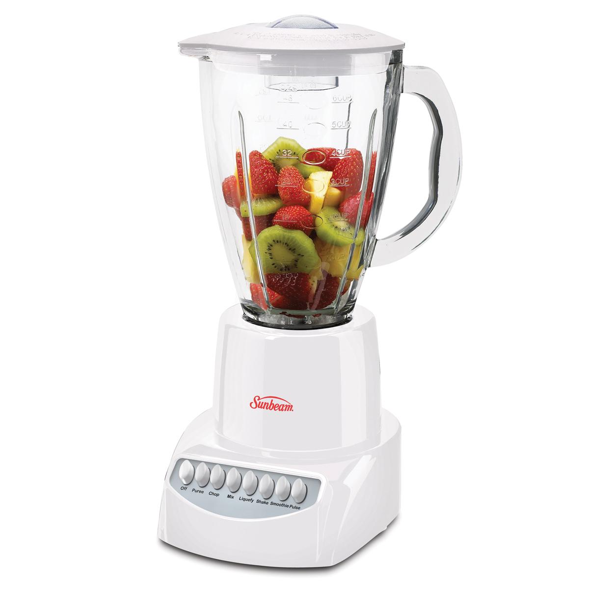 Kitchen Blenders: Sunbeam® 350 Watt 6 Speed Stand Blender, White BLSBX3-W00