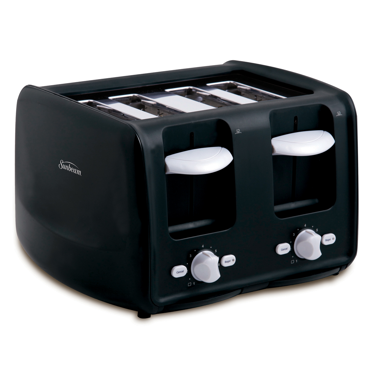 Sunbeam® 4-Slice Retractable Cord Toaster, Black