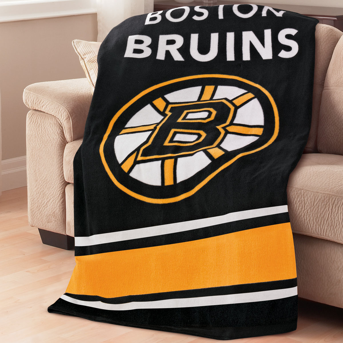 Sunbeam® NHL® Fleece Heated Throw, Boston Bruins®