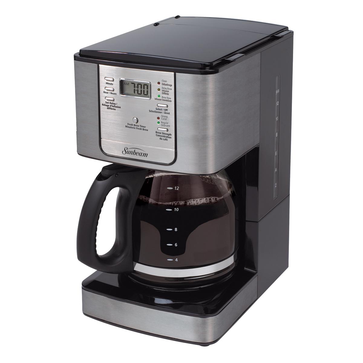 Coffee Makers At Walmart ~ Sunbeam cup programmable coffeemaker smoke pearl