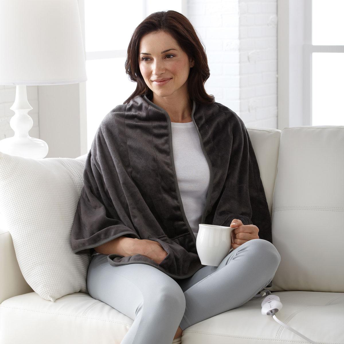 Sunbeam® Luxuriously Soft Heated Shawl