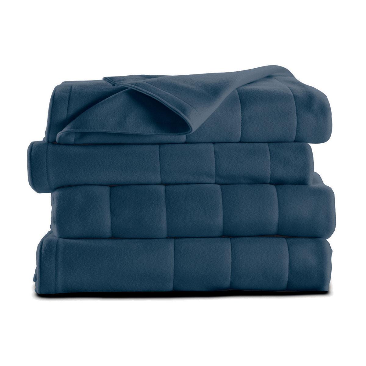 Sunbeam® Full/Queen Quilted Fleece Heated Blanket, Majolica Blue