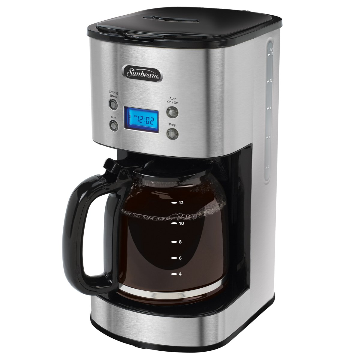sunbeam 12 cup programmable coffeemaker stainless steel bvsbcm0001 033 sunbeam canada. Black Bedroom Furniture Sets. Home Design Ideas