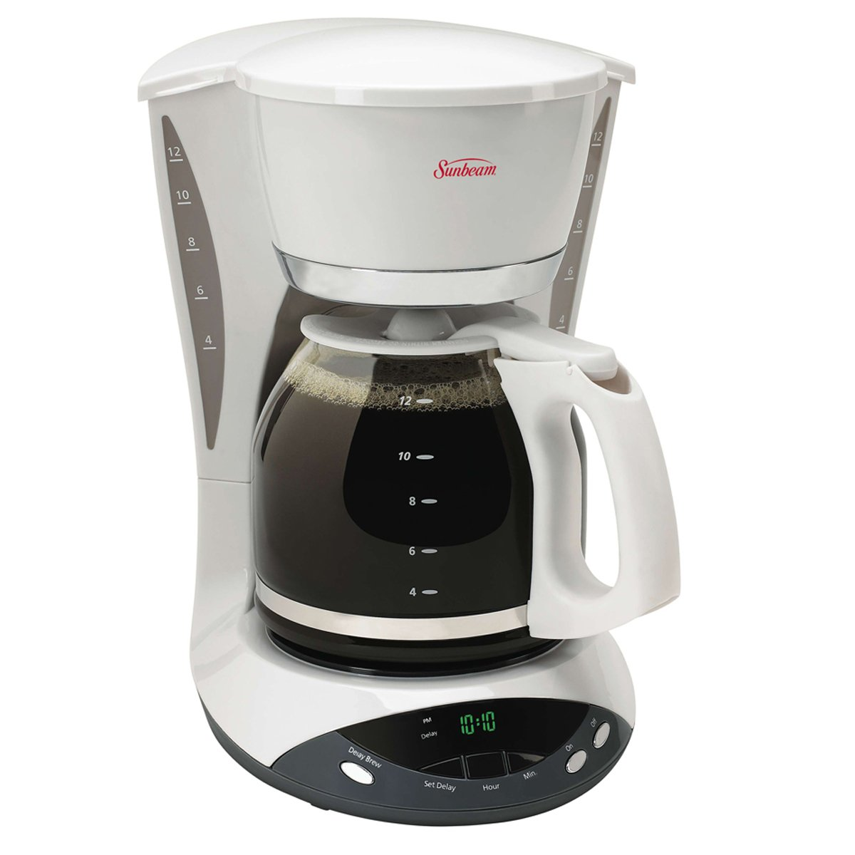 sunbeam 12 cup programmable coffeemaker white 6101 33 sunbeam canada. Black Bedroom Furniture Sets. Home Design Ideas