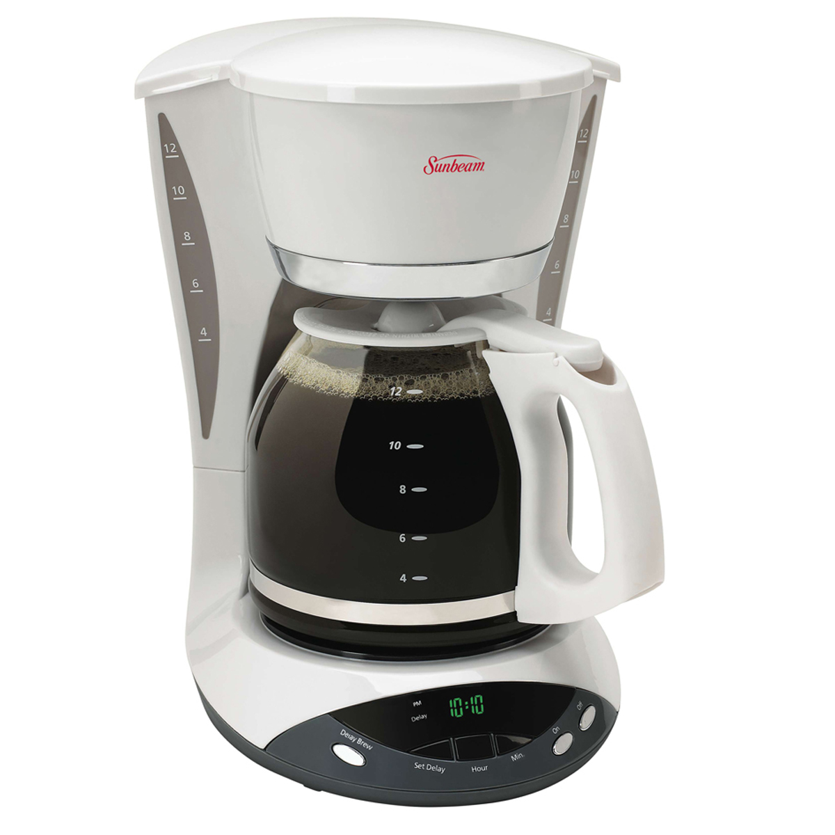 Sunbeam Percolator Coffee Maker : Sunbeam 12-Cup Programmable Coffeemaker, White 6101-33 Sunbeam Canada