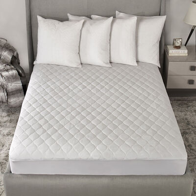 queen master quilted ca en sunbeam settings heat pad mattress cad heated canada with