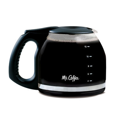 12 Cup Glass Carafe By Mr Coffee Black Pld12 Np