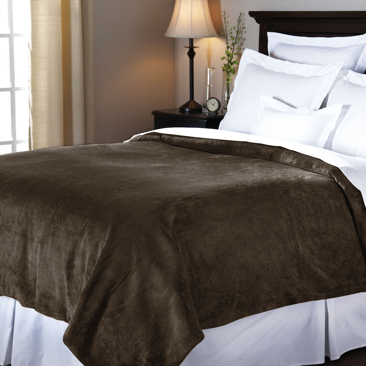 couverture chauffante sunbeam royal mink 1 place noyer sunbeam canada. Black Bedroom Furniture Sets. Home Design Ideas