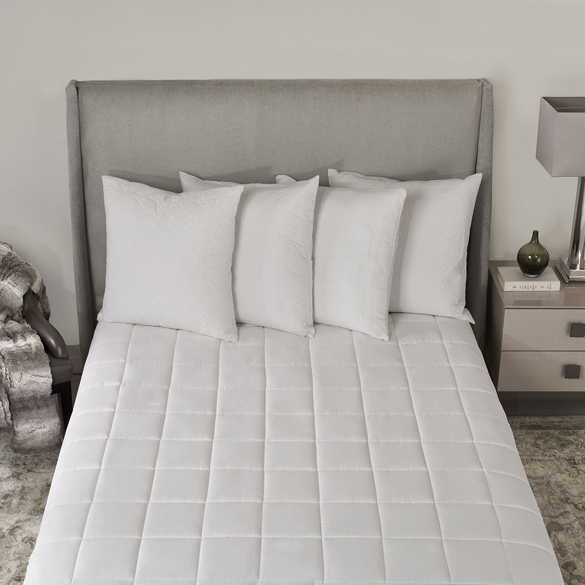 Sunbeam® Ultra Premium Quilted Heated Mattress Pad, Queen ...