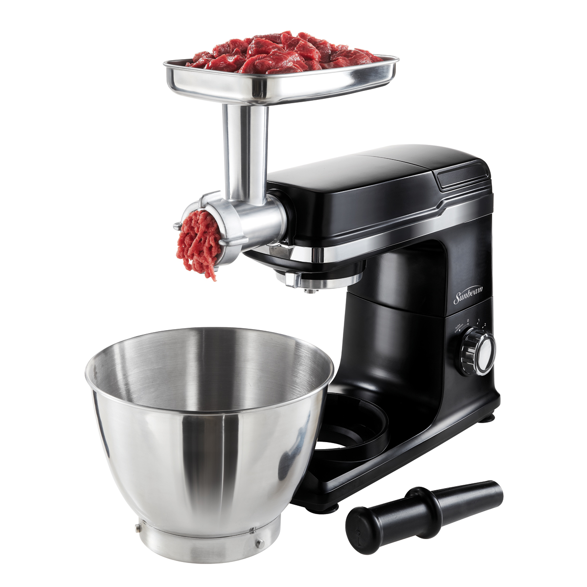 Electric Mixer Attachments ~ Sunbeam mixmaster planetary stand mixer meat grinder