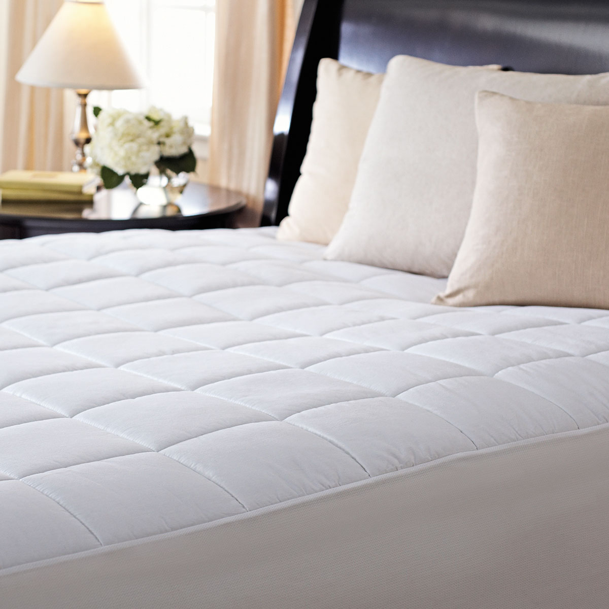 sunbeam® ultra premium quilted heated mattress pad, queen | sunbeam
