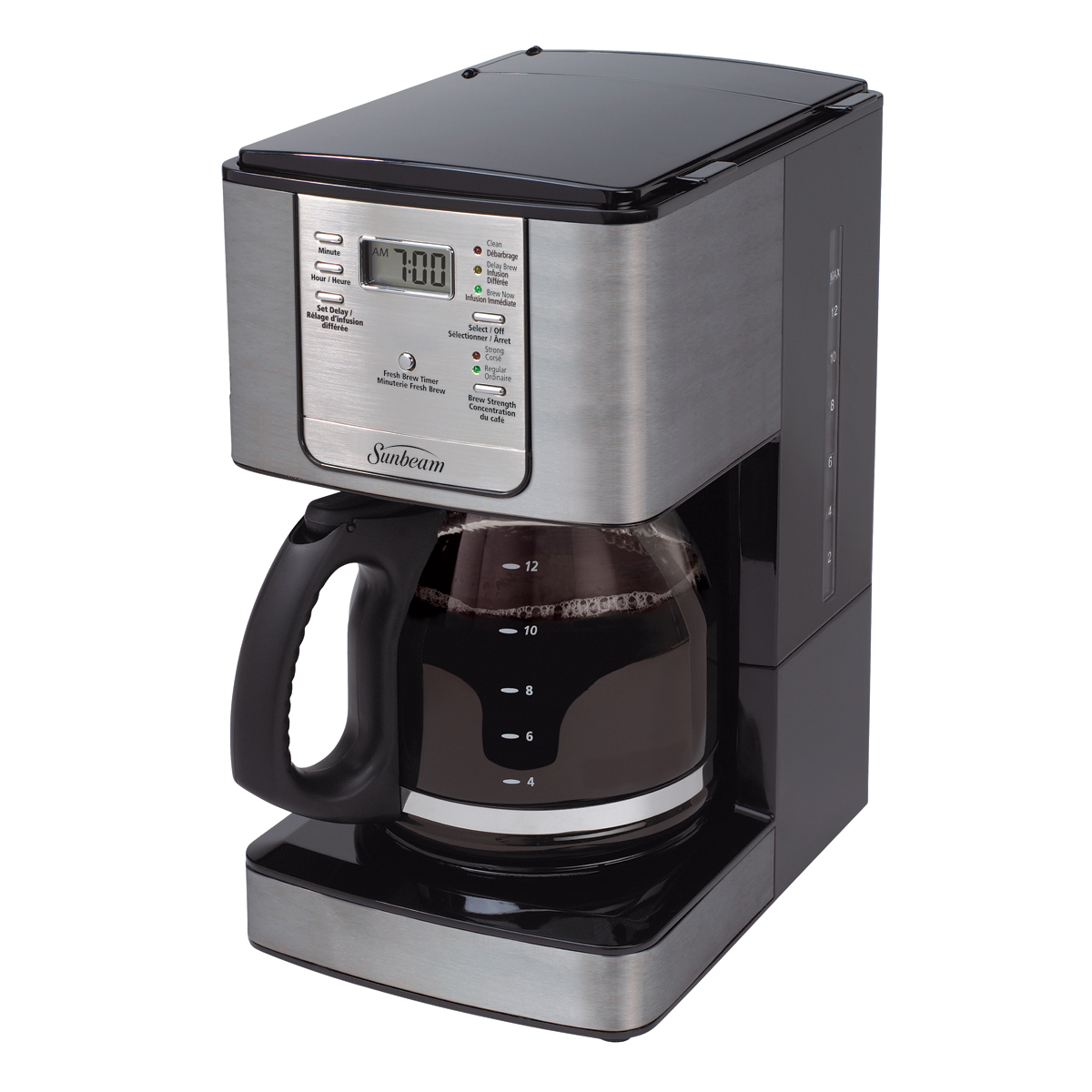 Sunbeam 174 12 Cup Programmable Coffeemaker Smoke Pearl