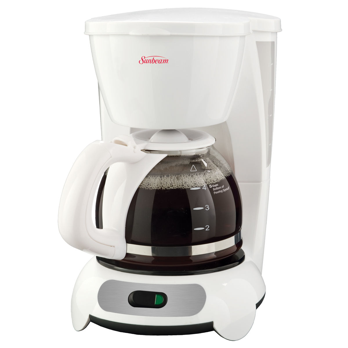 sunbeam 5 cup switch coffeemaker white bvsbtf6 033 sunbeam canada. Black Bedroom Furniture Sets. Home Design Ideas